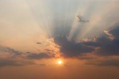 Het effect van de wolkenhemel Stock Afbeelding