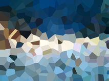Het effect van driehoekspixelation filter abstracte achtergrond Stock Foto's
