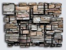 Het effect van foto 3D kubussen rots het 3d teruggeven stock illustratie