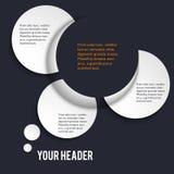 Het effect van het ontwerpelement 3d stijl van de presentatiemanier Vector Illustratie