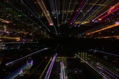 Het effect van het ontploffingsgezoem, lichte lijnen met lange blootstelling Royalty-vrije Stock Afbeelding