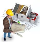 Het efficiënte huis van de architect en van de energie
