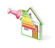 Het efficiënte huis van de energie. Royalty-vrije Stock Afbeelding