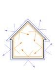 Het Efficiënte Huis van de energie Royalty-vrije Stock Foto