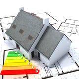 Het efficiënte huis van de energie Royalty-vrije Stock Afbeelding