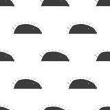 Het egel gestileerde naadloze patroon van de lijnpret voor jonge geitjes en babys Stock Afbeeldingen