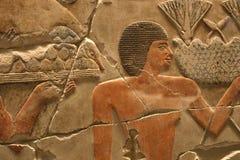 Het Egyptische Kunstwerk van de Tempel Stock Foto