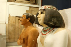 Het Egyptische museum Stock Foto's
