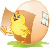 Het ei en de kip van het beeldverhaal stock illustratie