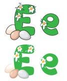 Het ei van de brief E Royalty-vrije Stock Afbeeldingen