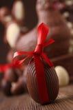 Het ei van de chocolade Stock Afbeeldingen