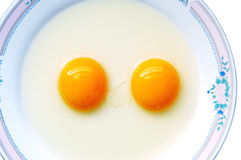Het ei van de dubbel-dooier Stock Afbeeldingen