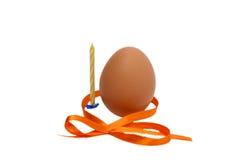 Het ei van de Kaars van het lint Stock Afbeelding