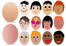 Het ei van de karakterdecoratie voor Pasen-dag Stock Afbeelding