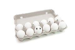 Het ei van Dumpty van Humpty in een document vakje royalty-vrije stock foto's