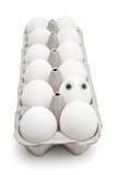 Het ei van Dumpty van Humpty in een document vakje royalty-vrije stock afbeelding