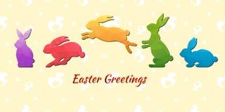 Het ei van het konijntjespatroon Stock Afbeelding