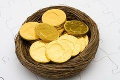 Het Ei van het Nest van de pensionering Stock Afbeelding