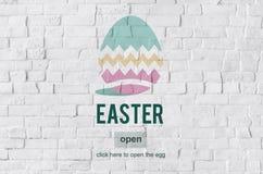 Het Eiconcept van Pasen Bunny Rabbit Spring Season Tradition Stock Fotografie