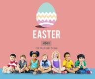 Het Eiconcept van Pasen Bunny Rabbit Spring Season Tradition Royalty-vrije Stock Afbeeldingen