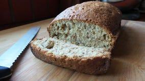 Het eigengemaakte Brood van de Banaannoot Royalty-vrije Stock Foto's