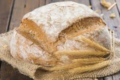 Het eigengemaakte brood van de multigrainzuurdesem Stock Foto