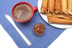 Het Eigengemaakte Dessert van wafeltobes Royalty-vrije Stock Foto