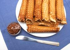Het Eigengemaakte Dessert van wafeltobes Royalty-vrije Stock Afbeelding