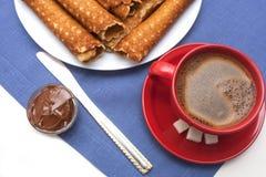 Het Eigengemaakte Dessert van wafeltobes Stock Foto