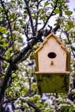 Het eigengemaakte Huis van de Vogel Stock Foto
