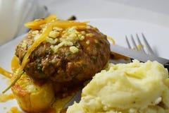 Het eigengemaakte Lapje vlees van Salisbury royalty-vrije stock foto