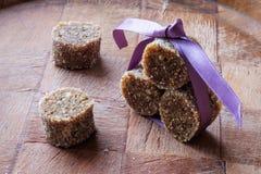 Het eigengemaakte van het de snoepjeslandschap van de fig.chocolade zijdetail royalty-vrije stock afbeelding