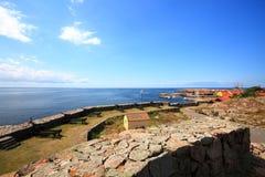Het eiland Bornholms Denemarken van fortchristiansoe Stock Fotografie