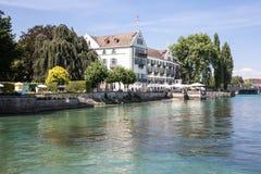 Het eiland Constance, Duitsland van hoteldominicanen Stock Fotografie