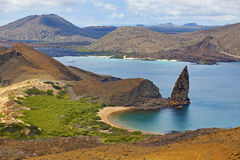 Het Eiland de Galapagos van Bartolome Stock Afbeeldingen