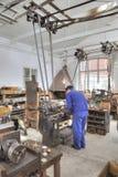 Het Eiland Djurgarden, Stockholm Het museum van Skansen Oude mec royalty-vrije stock foto