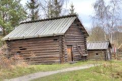 Het Eiland Djurgarden, Stockholm Het museum van Skansen schuur royalty-vrije stock fotografie
