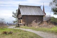Het Eiland Djurgarden, Stockholm Het museum van Skansen schuur stock afbeeldingen