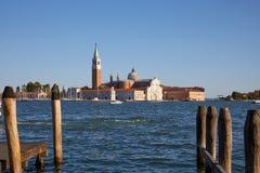 Het eiland en de basiliek van San Giorgio Maggiore in Venetië, Italië royalty-vrije stock fotografie