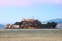 Het Eiland en de Gevangenis van Alcatraz in de Baai van San Francisco stock foto's