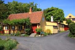 Het Eiland Gudhjem van Denemarken Bornholms Royalty-vrije Stock Afbeeldingen