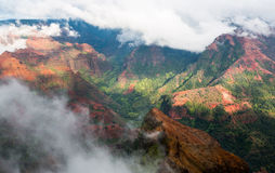 Het eiland Hawaï van Kauai van de Waimeacanion Royalty-vrije Stock Foto's