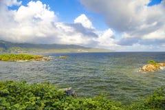 Het Eiland Hispaniola, Dominicaanse Republiek Mening van isla stock afbeelding