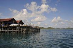 Het Eiland Kelong van Sibu Stock Afbeelding
