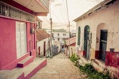 Het eiland Midden-Amerika van Islade flores Guatemala stock foto's