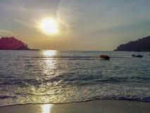 Het eiland mooie zonsondergang van Maleisië Pangkor Royalty-vrije Stock Fotografie