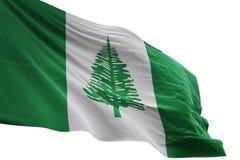 Het Eiland het nationale vlag van Norfolk golven geïsoleerd op witte 3d illustratie als achtergrond vector illustratie