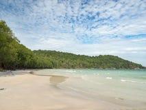 Het Eiland Natuurlijk Wild Sandy Beach, Zuid-Vietnam van Phuquoc Stock Afbeelding