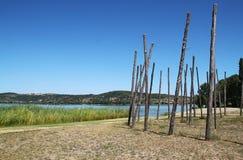 Het eiland Polvese stock afbeeldingen