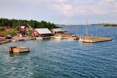 Het Eiland Sottunga, dichtbij Aland, in Finland Royalty-vrije Stock Afbeelding